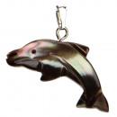 ingrosso Gioielli & Orologi: Pendenti madre di  delfino perla, 30mm, colore marr