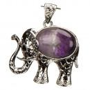 groothandel Sieraden & horloges: Trailer nadruk olifant, Amethyst, 45x40mm