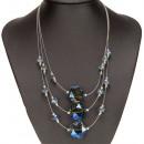 wholesale Jewelry & Watches: 3strängige fashion chain, glass, blue