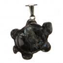 Chain turtle, 41x36mm, Black Labradori
