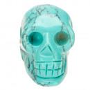 Hanger Skull, 26x20mm, Synth. turkoois