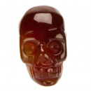 Hanger Skull, 26x20mm, Red Agaat