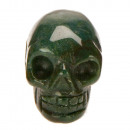 Hanger Skull, 26x20mm, Indian agaat