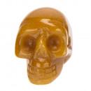 Hanger Skull, 26x20mm, Geel Jade