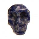 Hanger Skull, 26x20mm, White sodalite