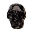 Hanger Skull, 26x20mm, Schneeflockenobsidian