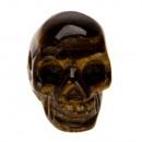 Hanger Skull, 26x20mm, Tijgeroog