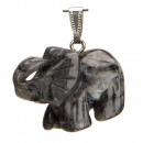 wholesale Jewelry & Watches: Pendant Elephant,  40mm, Black Labradorith