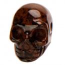 Hanger Skull, 26x20mm, Mahogany Obsidian