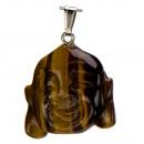 grossiste Bijoux & Montres: Pendentif bouddha, 39x35mm, Tigereye