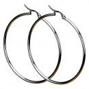 wholesale Earrings: Stainless steel earrings, round, 52mm
