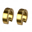 Stainless steel earrings Hoops, 14x4mm, Gold