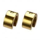 Roestvrij staal oorbellen Hoops, 14x7mm, Gold