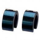 Stainless steel earrings Hoops, 14x7mm, blue