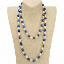 Long pearl  necklace with  beads Fantasy, ...