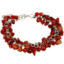 Bracelet with natural stones, coral