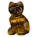 Engraving cat, 38mm, Tigereye