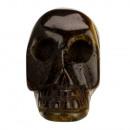 Gegraveerd schedel, 36mm, Tijgeroog