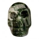 Gegraveerd schedel, 36mm, boom agaat