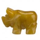 wholesale Home & Living: Engraving rhino, 48mm, yellow jade