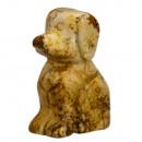 wholesale Home & Living: Engraved dog, 47mm, Bilderjaspis