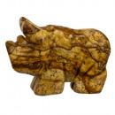 wholesale Home & Living: Engraving rhino, 48mm, Bilderjaspis