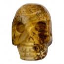 Gegraveerd schedel, 48mm, Bilderjaspis
