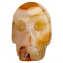 Gegraveerd schedel, 48mm, rood agaat