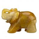 wholesale Home & Living: Engraving  elephant, 49mm, yellow jade
