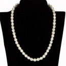 wholesale Jewelry & Watches: Faceted magnetic chain, 8mm, White