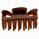 Sonderpreis: Haarklammer Braun, 60x32mm