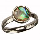 grossiste Anneaux et bagues: anneau en acier inoxydable avec de la nacre, argen