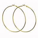 wholesale Earrings:Creole, 90mm, gold