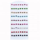 Großhandel Schmuck & Uhren: Set: 36 Paar  Ohrpins mit Stein, Mix, 6mm
