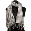 Fashionable scarf, 165x30cm, black and white