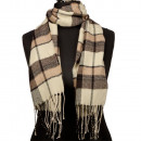 Modieuze sjaal, 165x30cm, Brown