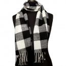 Großhandel Tücher & Schals: Modischer Schal, 165x30cm, Schwarz-Weiß