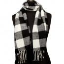 wholesale Scarves & Shawls: Fashionable scarf, 165x30cm, black and white