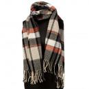 Modieuze sjaal, 180x52cm, zwart en wit Brown