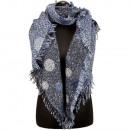 Grote dames sjaal, 180x65cm, Blue
