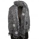 Grote dames sjaal, 180x65cm, Black