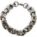 Król łańcuch ze stali nierdzewnej, srebrny, 14mm,