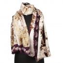 Fashionable scarf, 180x90cm, brown-Bordeaux