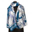 Fashionable scarf, 180x90cm, blue