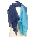 Scarf 180x85cm, blue-turquoise