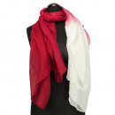 Scarf 180x85cm, red-white