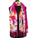 Bandana batik optiek 190x70cm, Pink kleurrijke
