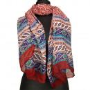 Speciale prijs: halsdoek, 180x50cm Rood Bontgekleu