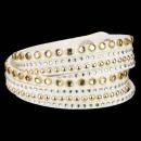 wholesale Artificial Flowers: Wrap bracelet PU, 40x1, 7cm, white