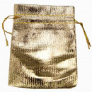 wholesale Jewelry & Watches: 100 jewelery bags, 9x7cm, gold